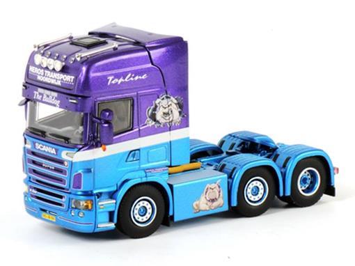 Scania: R5 Topline 6x2  Single Truck - Cavalo - Roxo/Azul - 1:50