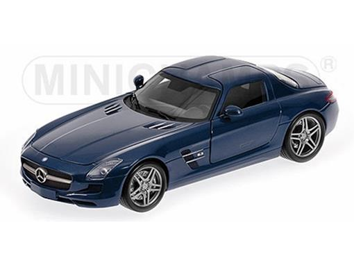 Mercedes Benz: SLS AMG (2010) - Azul Metalico - 1:18