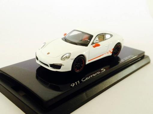 Porsche: 911 Carrera S - Branco - 1:64