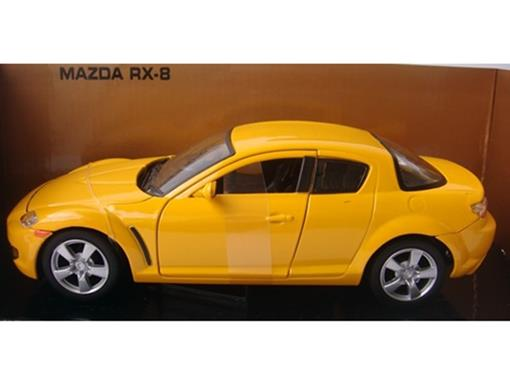 Mazda: RX 8 - Amarelo - 1:24 - Motor Max