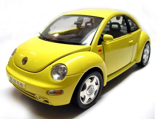 Volkswagen: New Beetle - Amarelo - 1:24