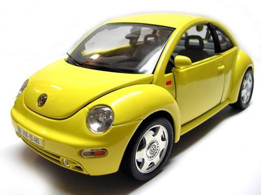 Volkswagen: New Beetle (1998) - Amarelo - 1:18