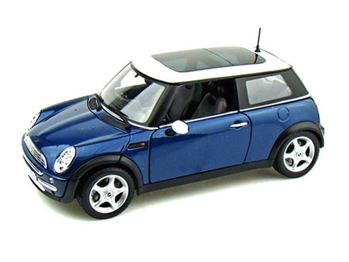 Mini Cooper: (Sun Roof) - Azul - 1:18