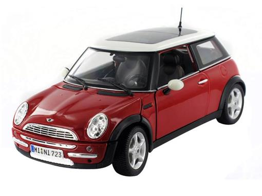 Mini Cooper: (Sun Roof) - Vermelho - 1:18