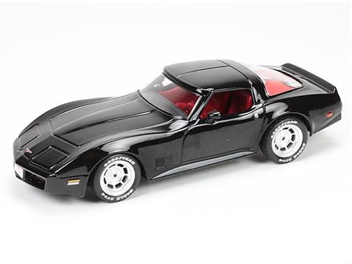 Chevrolet: Corvette C3 (1980) - Preto - 1:43