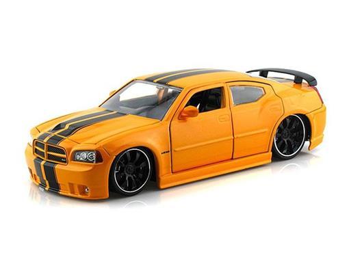 Dodge: Charger SRT8 (2006) - Amarelo - Bigtime Muscle - 1:24 - Jada