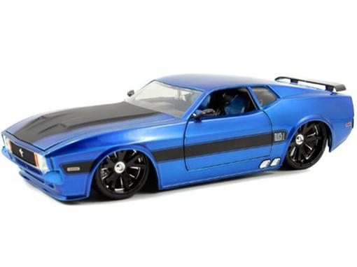 Ford: Mustang Mach 1 (1973) - Azul  - Bigtime Muscle - 1:24 - Jada