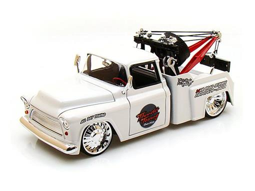 Chevrolet: Stepside Tow Truck (1955) - Branco - Bigtime Kustoms - 1:24