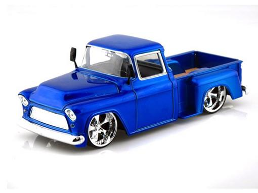 Chevrolet: Stepside (1955) - Azul - Bigtime Kustoms - 1:24