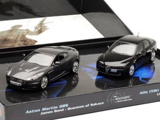 Set: Aston Martin DBS / Alfa 159ti - James Bond - 007 ''Quantium of Solace'' - 1:43