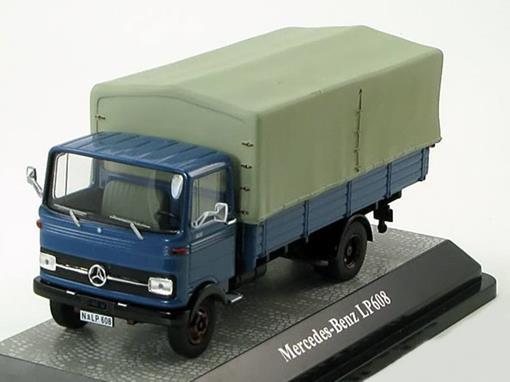 Mercedes-Benz: LP608 Pritschenwagen - Azul - 1:43