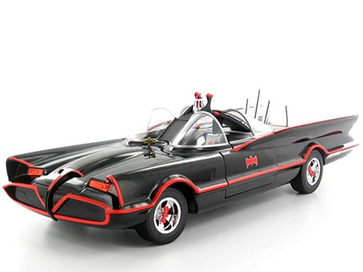 Batmovel: Batman Classic Tv Series (1966) - Preto - 1:18