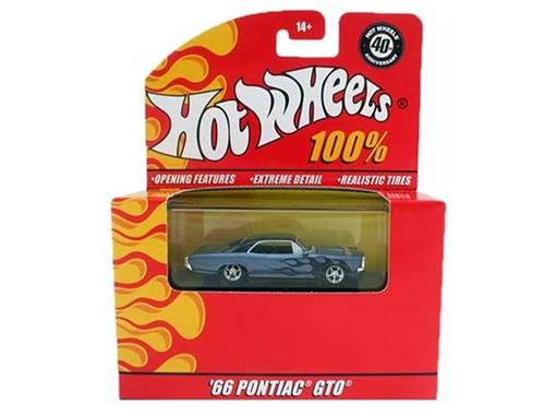 Pontiac: GTO (1966) - Azul Metálico - 40th Anniversary - Hot Wheels 100% - 1:64