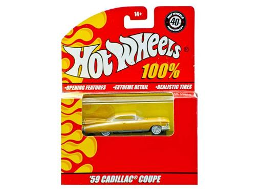 Cadillac: Coupe (1959) - Laranja - 40th Anniversary - Hot Wheels 100% - 1:64