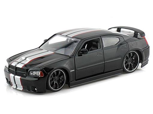 Dodge: Charger SRT8 (2006) - Preto - Bigtime Muscle - 1:24