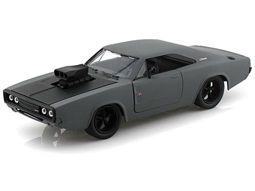 Dodge: Charger R/T (1970) - Cinza Fosco - Bigtime Muscle - 1:24