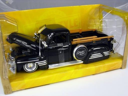 Chevrolet: Pickup (1951) - Preto - Bigtime Kustoms - 1:24