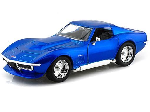 Chevrolet: Corvette Stingray ZL-1 (1969) - Azul - 1:24