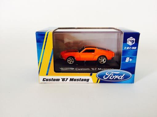 Ford: Mustang Custom '67 - Laranja - Hot Wheels - 1:87