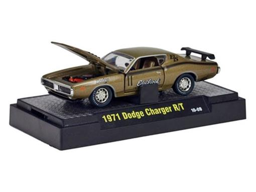 Dodge: Charger R/T (1971) - Dourado - Auto Drags - 1:64