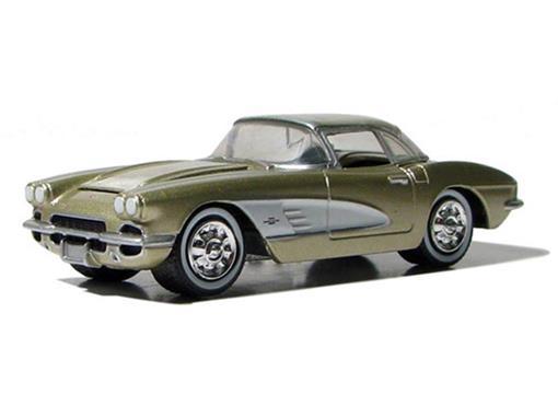Chevrolet: Corvette (1961) - Dourado - Route 66 U.S.A - 1:64