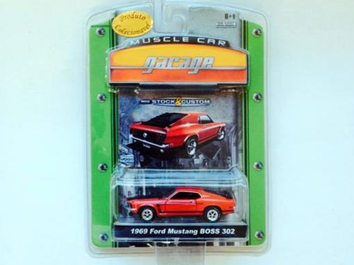 Ford: Mustang Boss 302 (1969) - Vermelho - Muscle Car Garage - 1:64