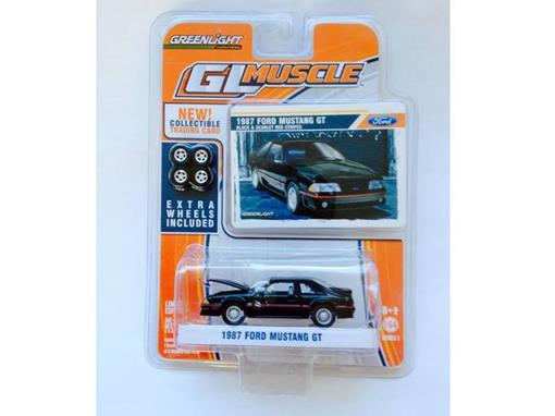 Ford: Mustang GT (1987) - Preto - GL Muscle - Série 1 - 1:64