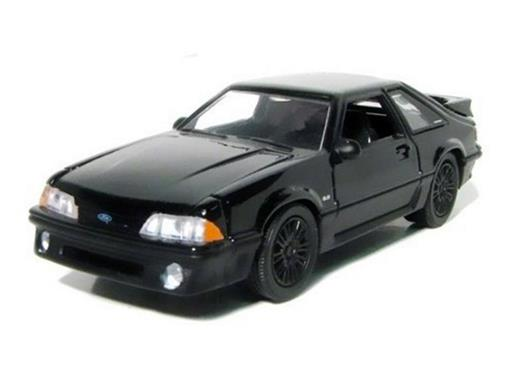 Ford: Mustang GT (1989) - Black Bandit - Séries 6 - 1:64