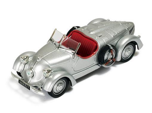 Mercedes Benz: 150 Sport Roadster Conversível (1935) - Prata - 1:43