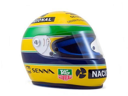 Capacete Ayrton Senna - Elf Masters Karting (1993) - Legends Line - 1:2