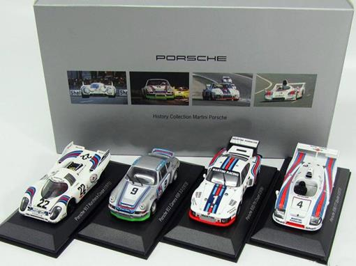 Set: Porsche - History Collection Martini - 1:43