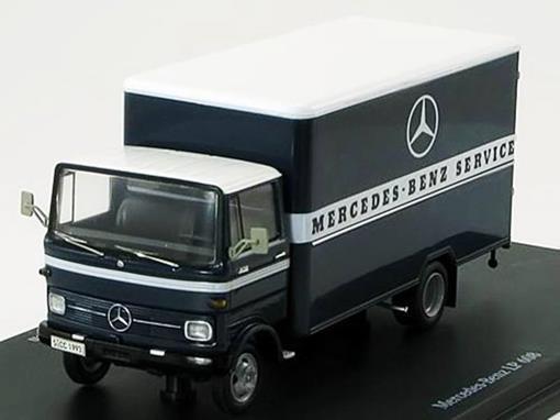 Mercedes-Benz: LP 608 Kastenwagen Service - Azul - 1:43