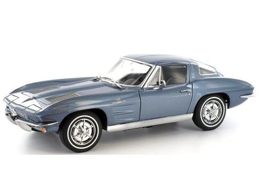 Chevrolet: Corvette Sting Ray Coupe - Daytona (1963) Silver Blue - 1:18