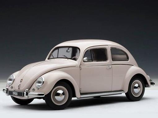 Volkswagen: Beetle (Fusca) 1200 Limousine (1955) - Bege - 1:18