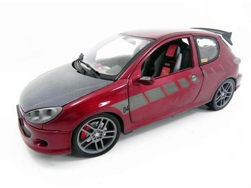 Peugeot: 206 Street Racer - GTI Tuners - Vermelho - 1:18
