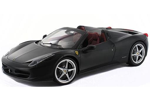 Ferrari: 458 Spider - Preta - 1:18