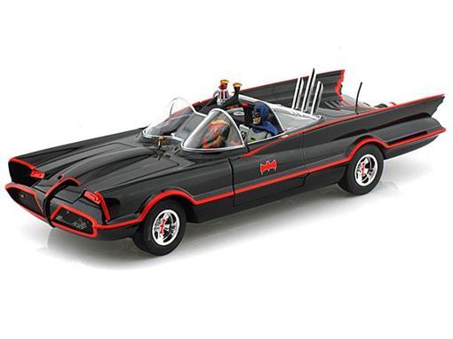 Batmovel: Classic Tv Series - Batman and Robin  (1966) - Preto - 1:18