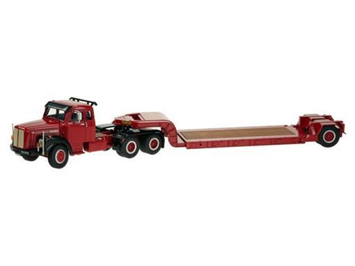 Scania: LT 110 c/ Reboque Prancha - Vermelho - 1:50