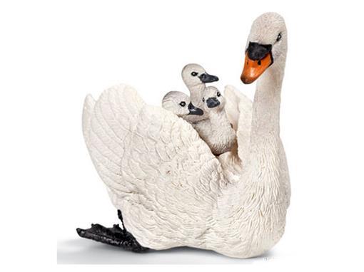 Cisne Branca com Filhotes - Schleich