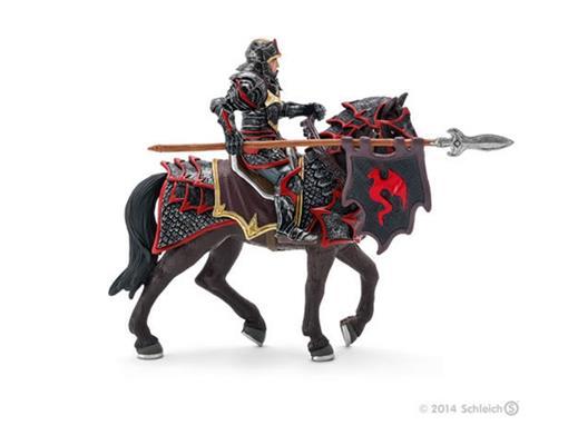 Boneco Cavaleiro Dragão no Cavalo com Lança