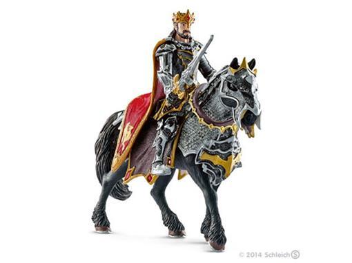 Boneco Cavaleiro Rei Dragão no Cavalo com Espada