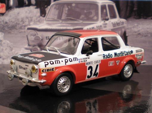 Simca: 1000 Rallye 2 (1973) - B. Fiorentino - M. Gelin #34 - Rallye Monte Carlo - 1:43