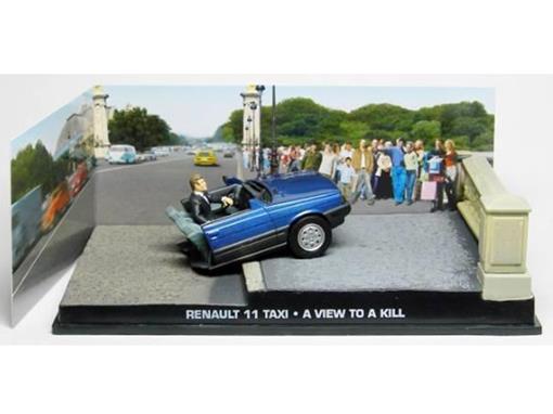 Diorama: Renault 11 Taxi Metade - James Bond - 007 A View To A Kill (007 - Na Mira Dos Assassinos) - Azul - 1:43