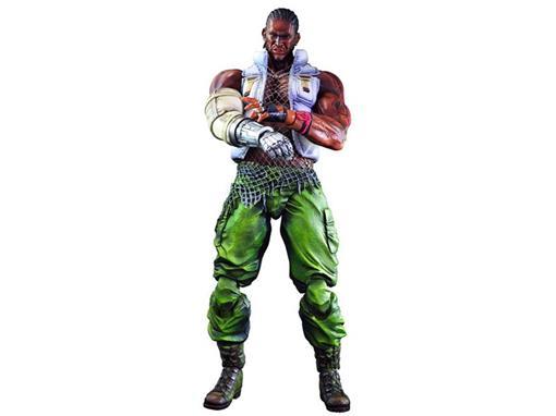 Boneco Barret Wallace #6 - Final Fantasy VII Advent Children - Play Arts Kai - Square Enix