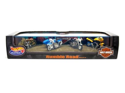 Set: Hot Wheels - Harley Davidson - Rumble Road - Motocicletas - Series 3 - 1:64