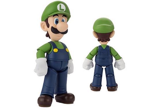 Boneco Luigi - Super Mario Bros - S.H.Figuarts - Bandai