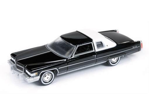 Cadillac: Coupe DeVille (1976) - Preto - Land Yachts - 1:64
