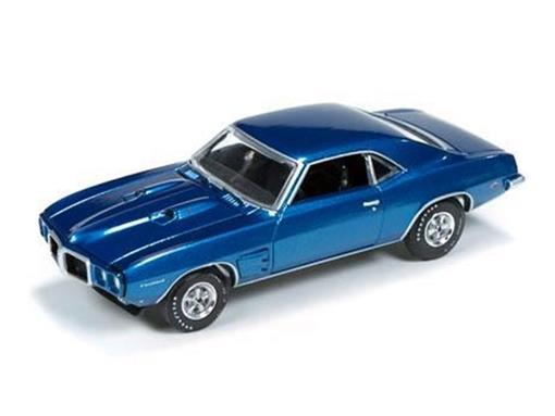 Pontiac: Firebird (1969) - Azul Metálico - Vintage Muscle - 1:64
