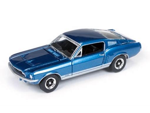 Ford: Mustang GT (1967) - Azul - Vintage Muscle - 1:64