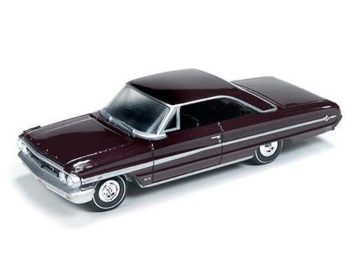 Ford: Galaxie 500XL (1964) - Borgonha - Vintage Muscle - 1:64